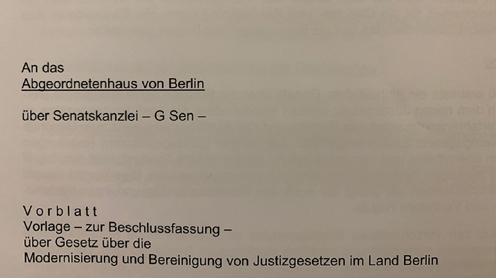 April 2019: Neues Berliner Justizgesetz soll Gesetze zusammenfassen und modernisieren